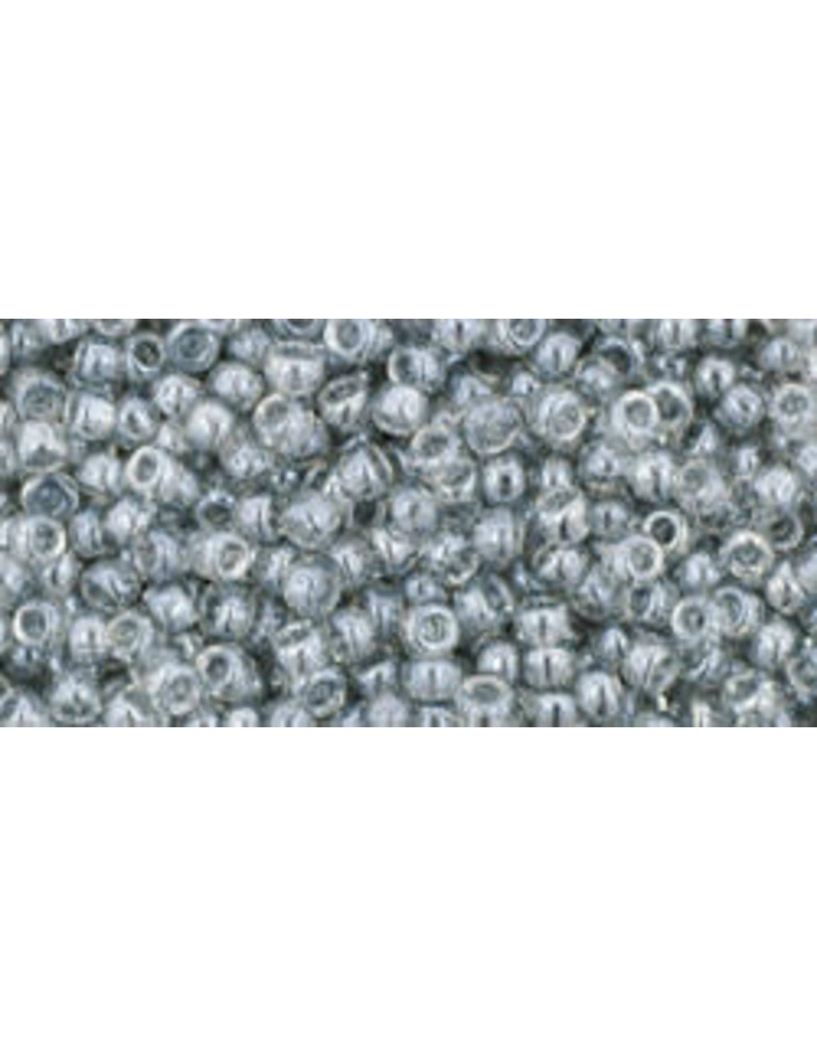 Toho 112B 11  Round 40g Transparent Black Diamond Grey Lustre