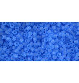 Toho 3cfB 11  Round 40g Transparent Dark Aqua Blue Matte