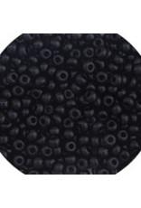 Czech 401624 6 Czech Seed 20g Opaque Jet Black
