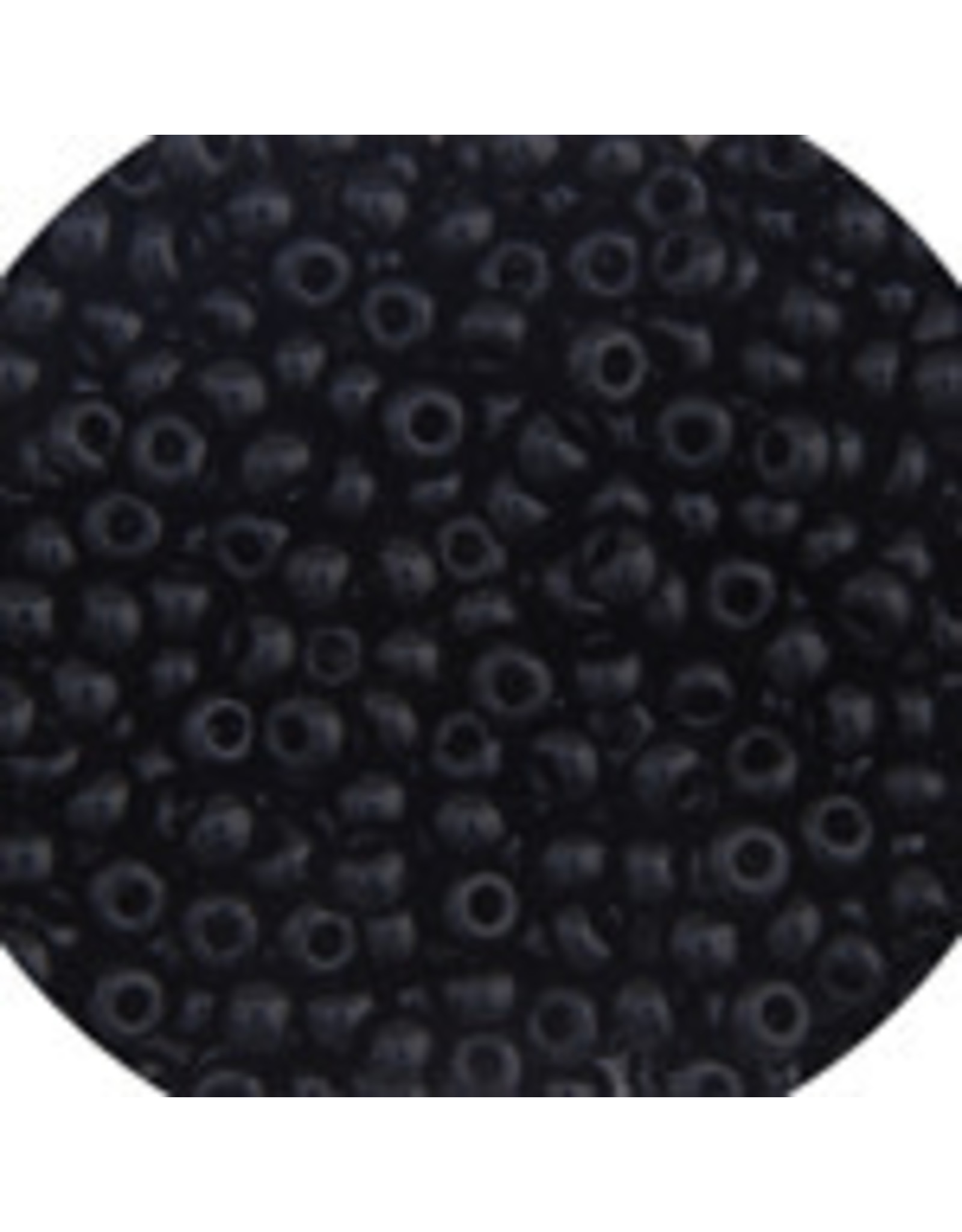 Czech 401624 6   Seed 20g Opaque Jet Black