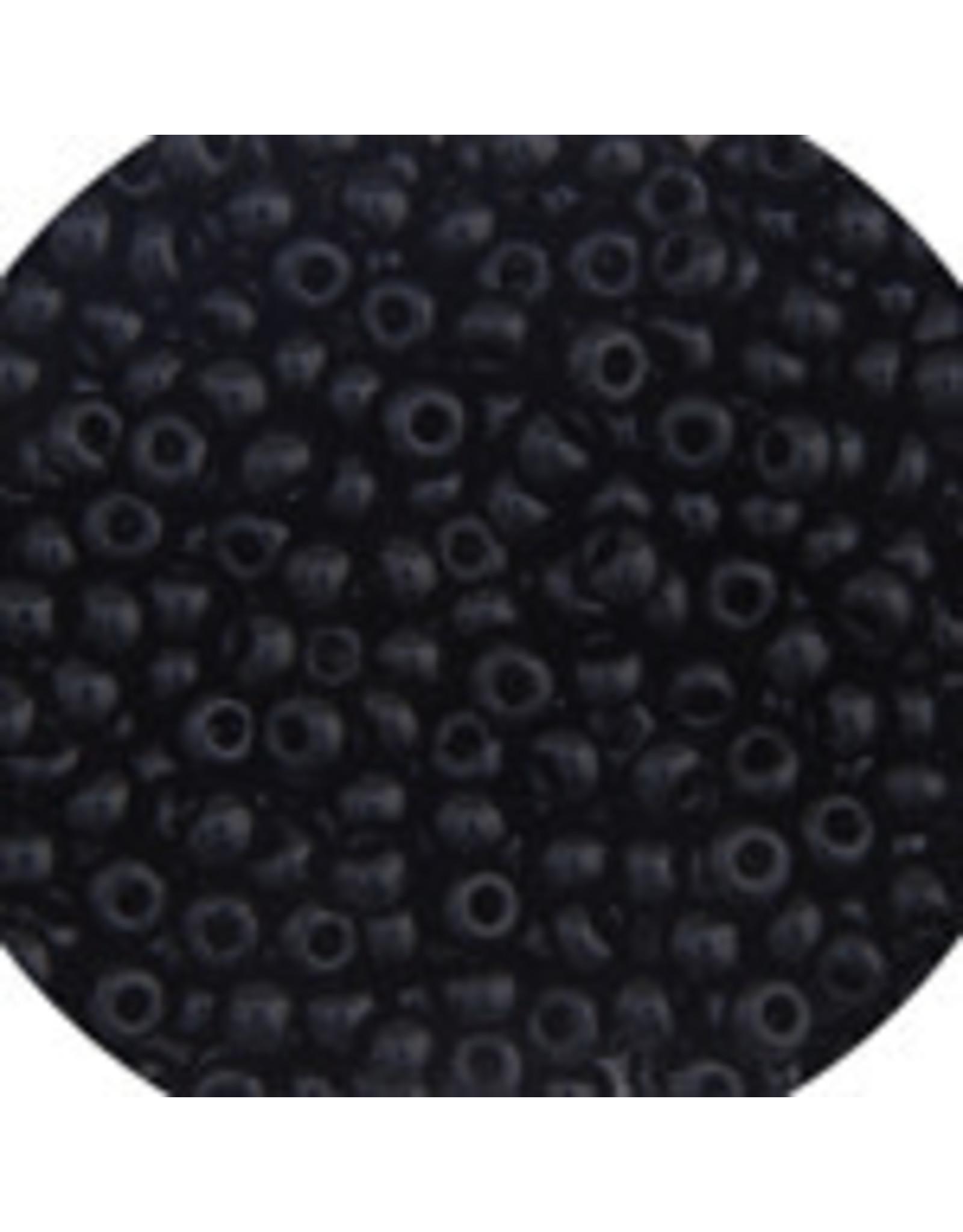 Czech 401624b 6   Seed 250g Opaque Jet Black