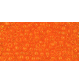 Toho 10 11  Round 6g Transparent Lt Hyacinth Orange