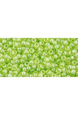 Toho 105 11 Toho Round 6g Transparent Lime Green Lustre