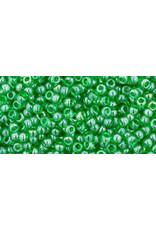 Toho 108B 11  Round 40g Transparent  Peridot Green Lustre