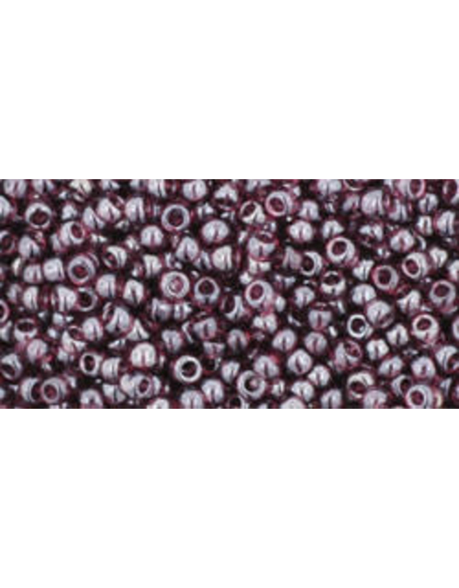 Toho 115B 11  Round 40g Transparent Amethyst Purple Lustre