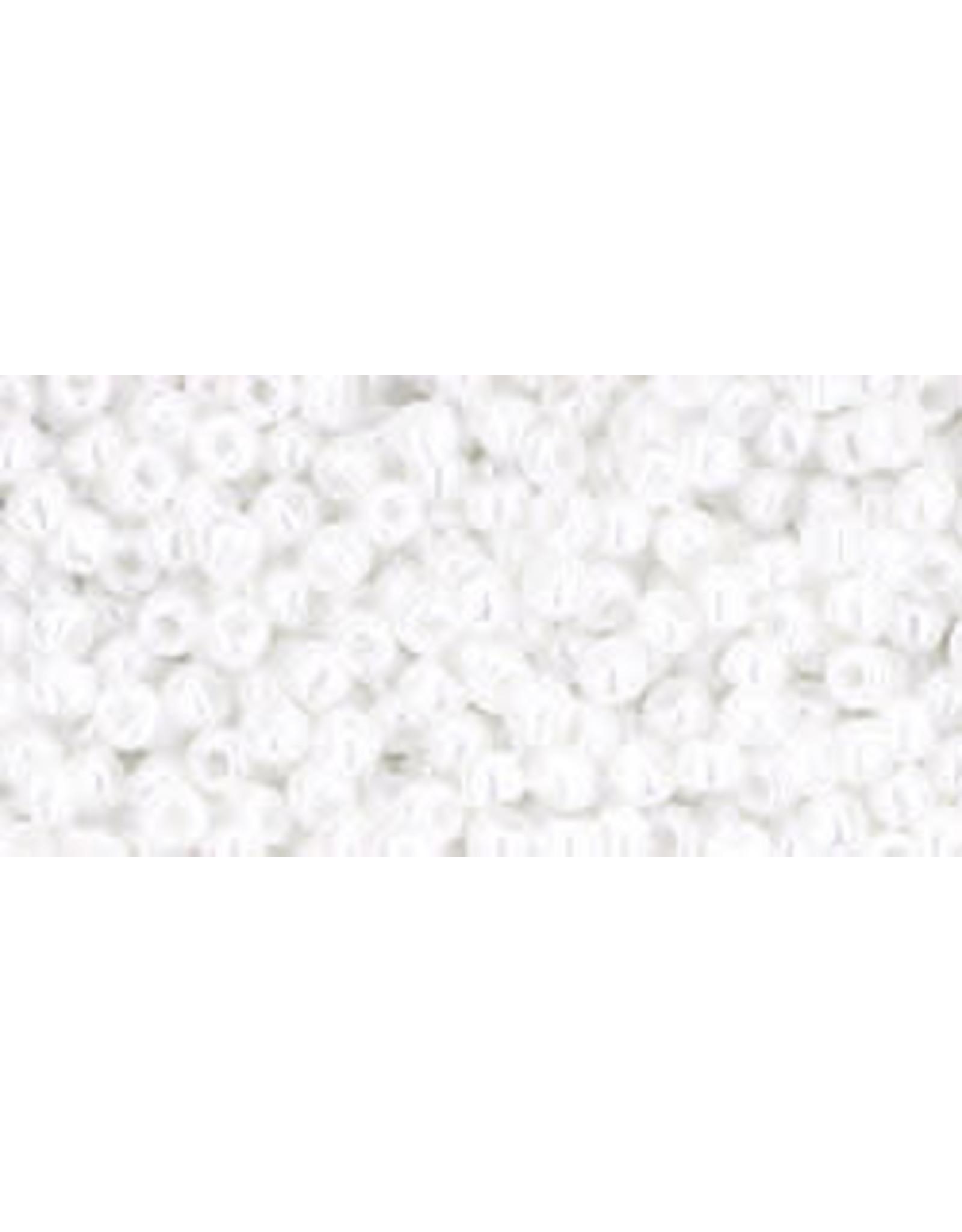 Toho 121B 11  Round 40g Opaque  White Lustre