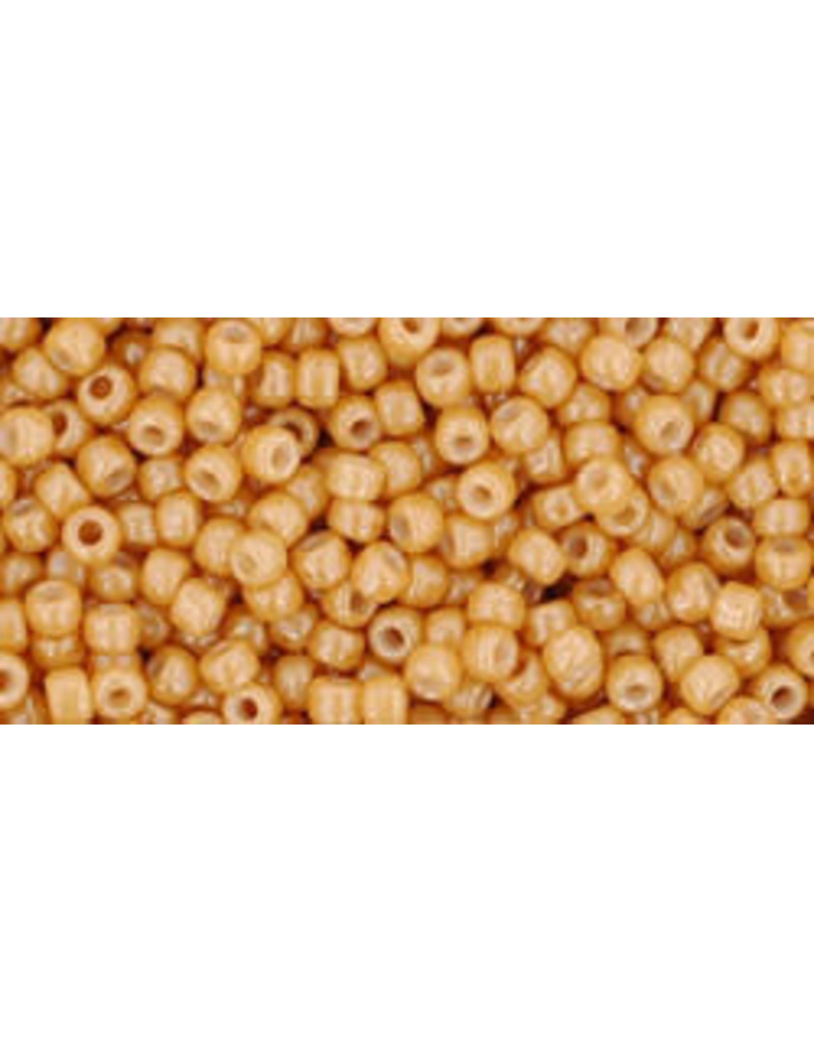 Toho 123d 11  Round 6g Opaque Dark Beige Brown Lustre