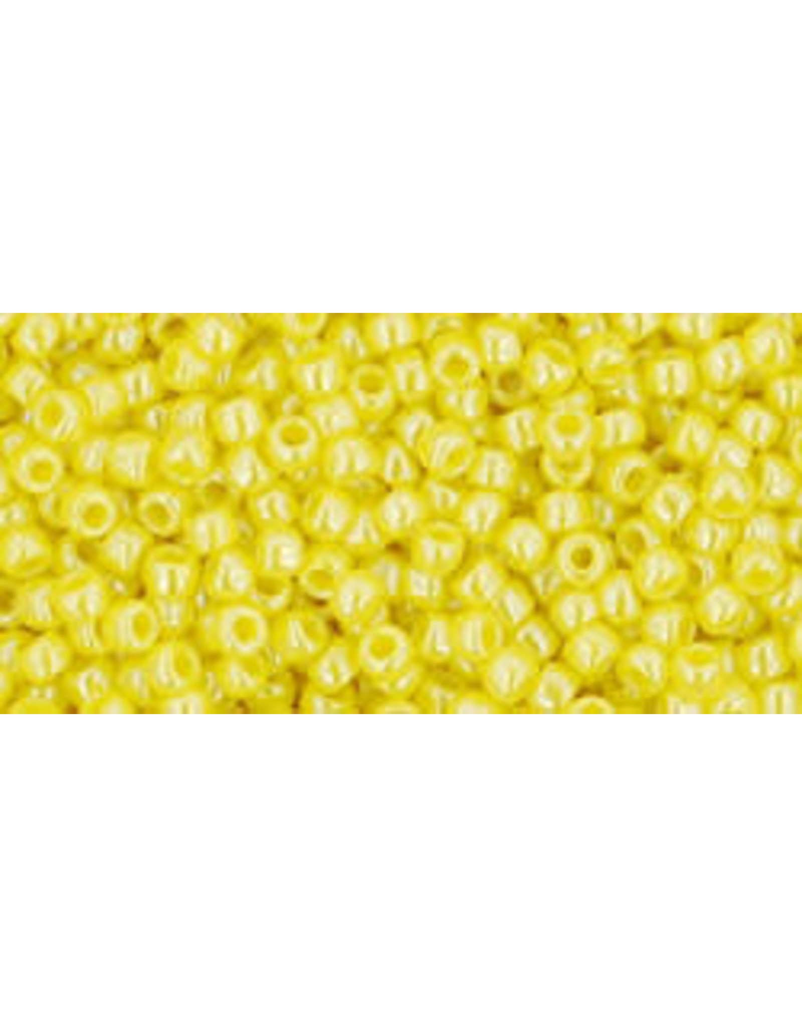 Toho 128B 11  Round 40g Opaque Dandelion Yellow Lustre