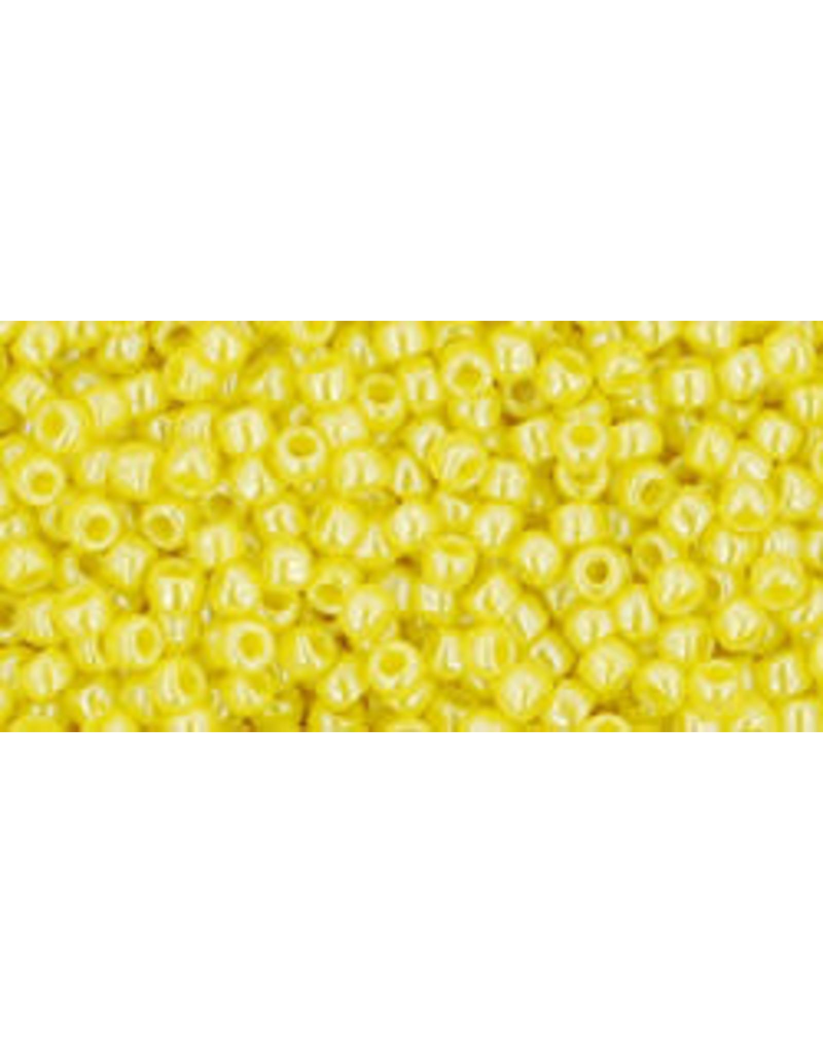 Toho 128B 11 Toho Round 40g Opaque Dandelion Yellow Lustre