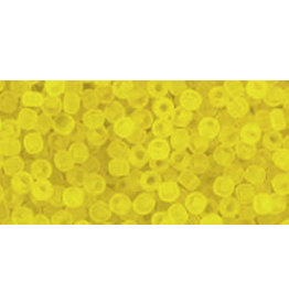 Toho 12f 11  Round 6g Transparent Lemon Yellow Matte