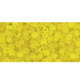 Toho 12f 11 Toho Round 6g Transparent Lemon Yellow Matte
