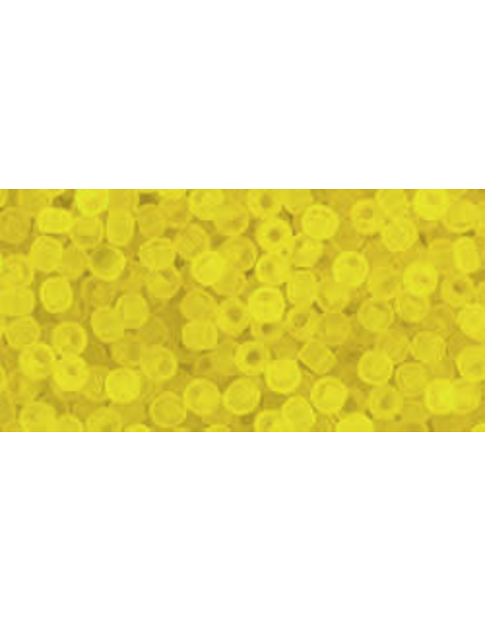 Toho 12f 11  Round 6g Transparent Lemon Yellow Matte