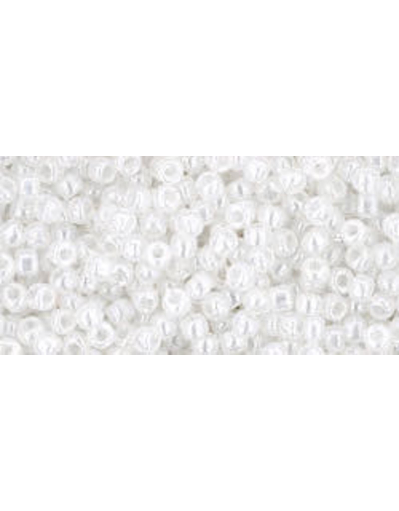 Toho 141B 11  Round 40g Ceylon Snowflake White