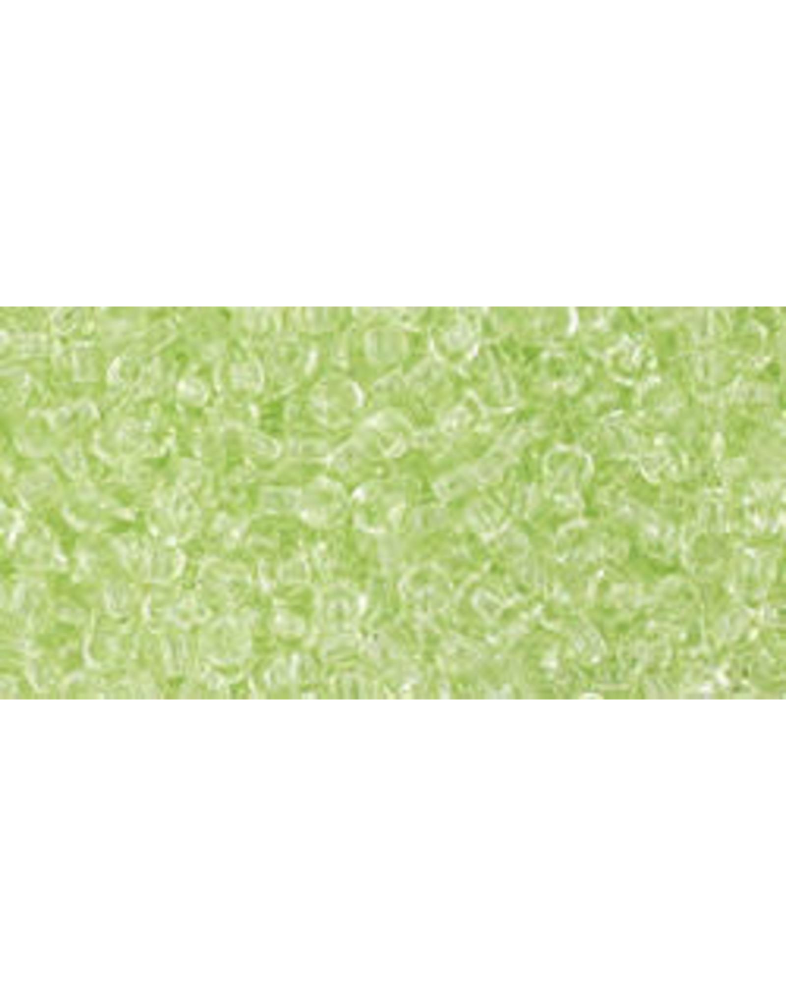 Toho 15 11  Round 6g Citrus Spritz Green