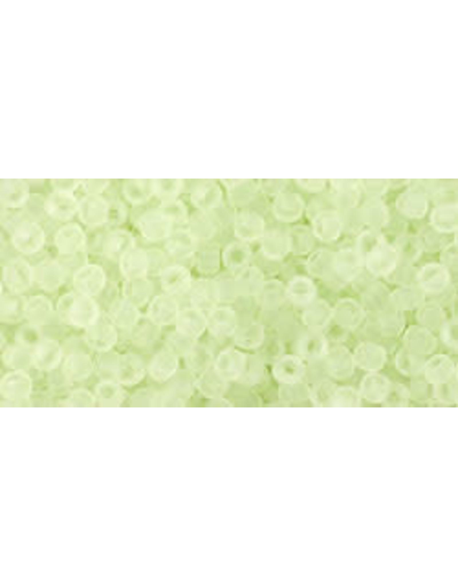 Toho 15f 11  Round 6g Citrus Spritz Green