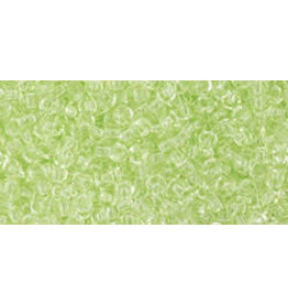 Toho 15B 11  Round 40g Transparent  Citrus Spritz Green