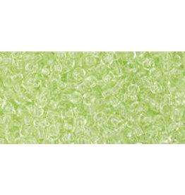Toho 15B 11 Toho Round 40g Transparent  Citrus Spritz Green