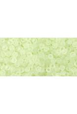 Toho 15fB 11 Toho Round 40g Transparent  Citrus Spritz Green Matte