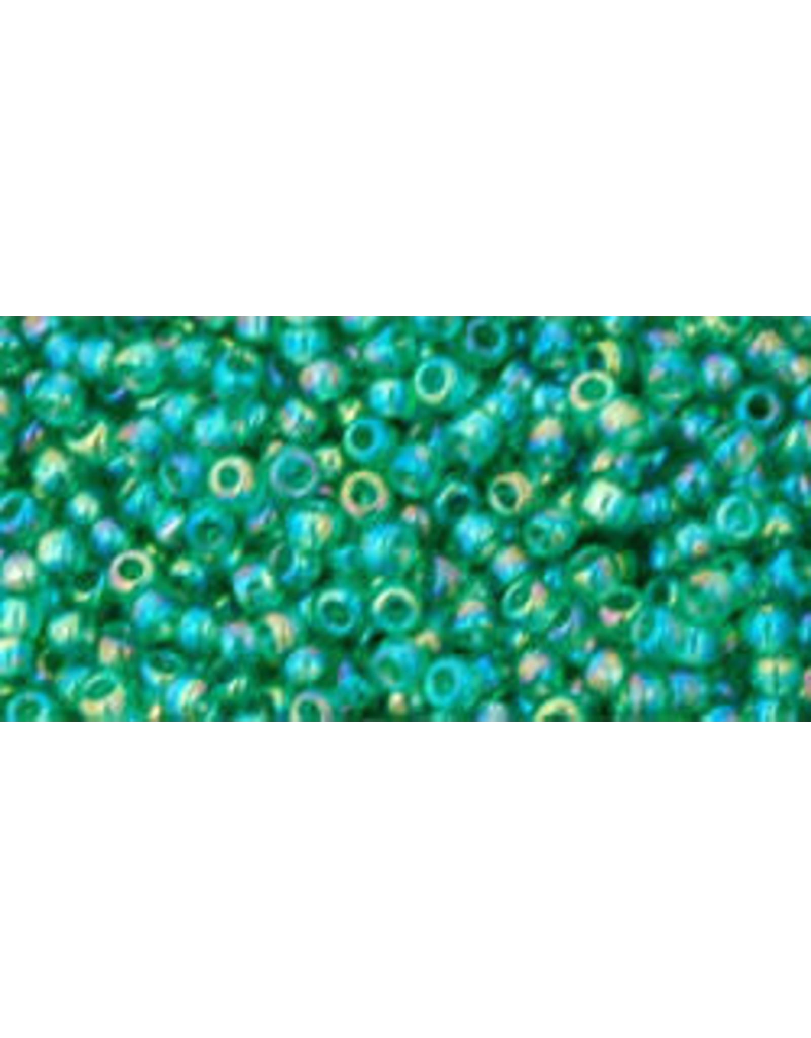Toho 164bB 11  Round 40g Transparent Dark Peridot Green