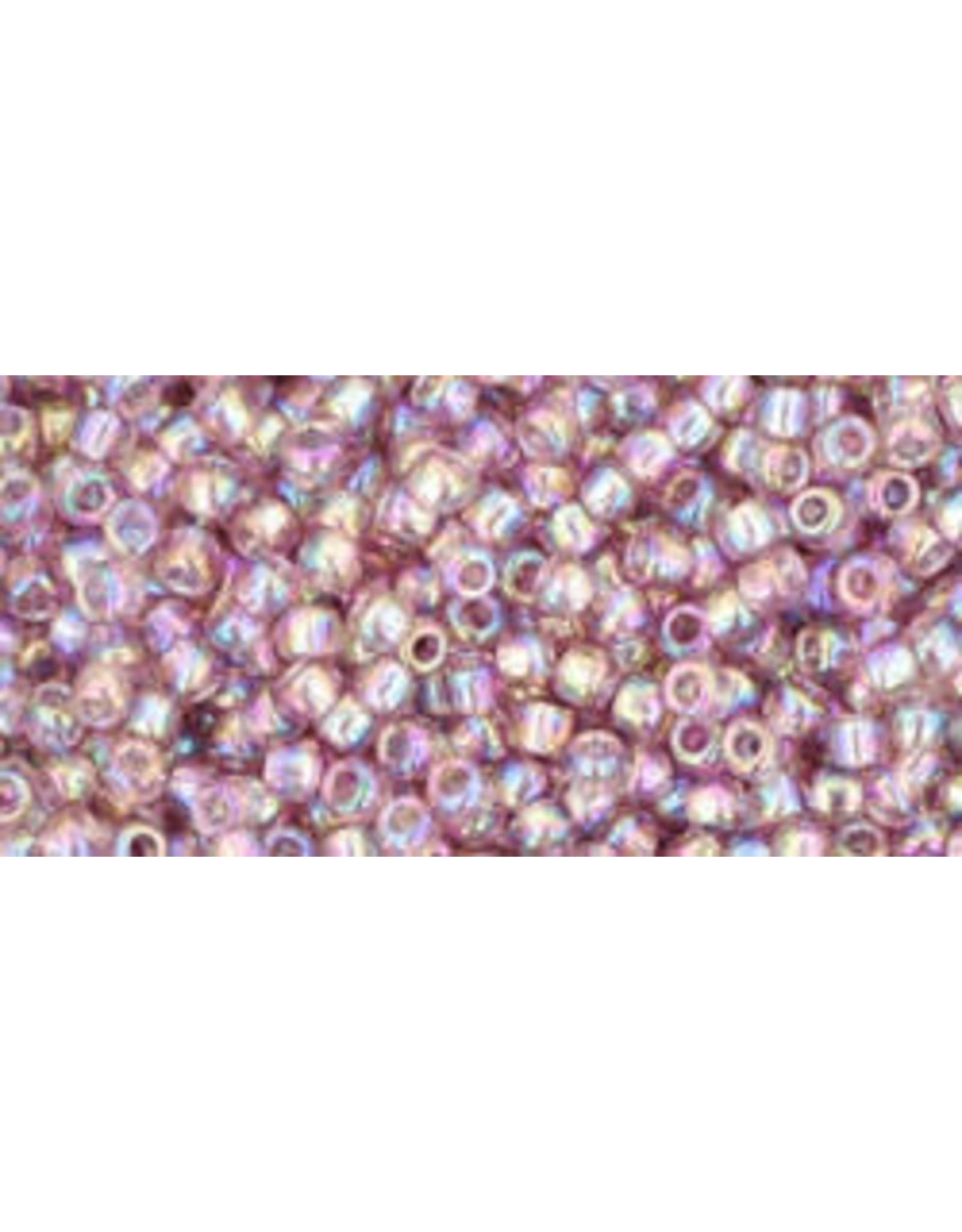 Toho 166B 11  Round 40g Transparent Light Amethyst Purple AB