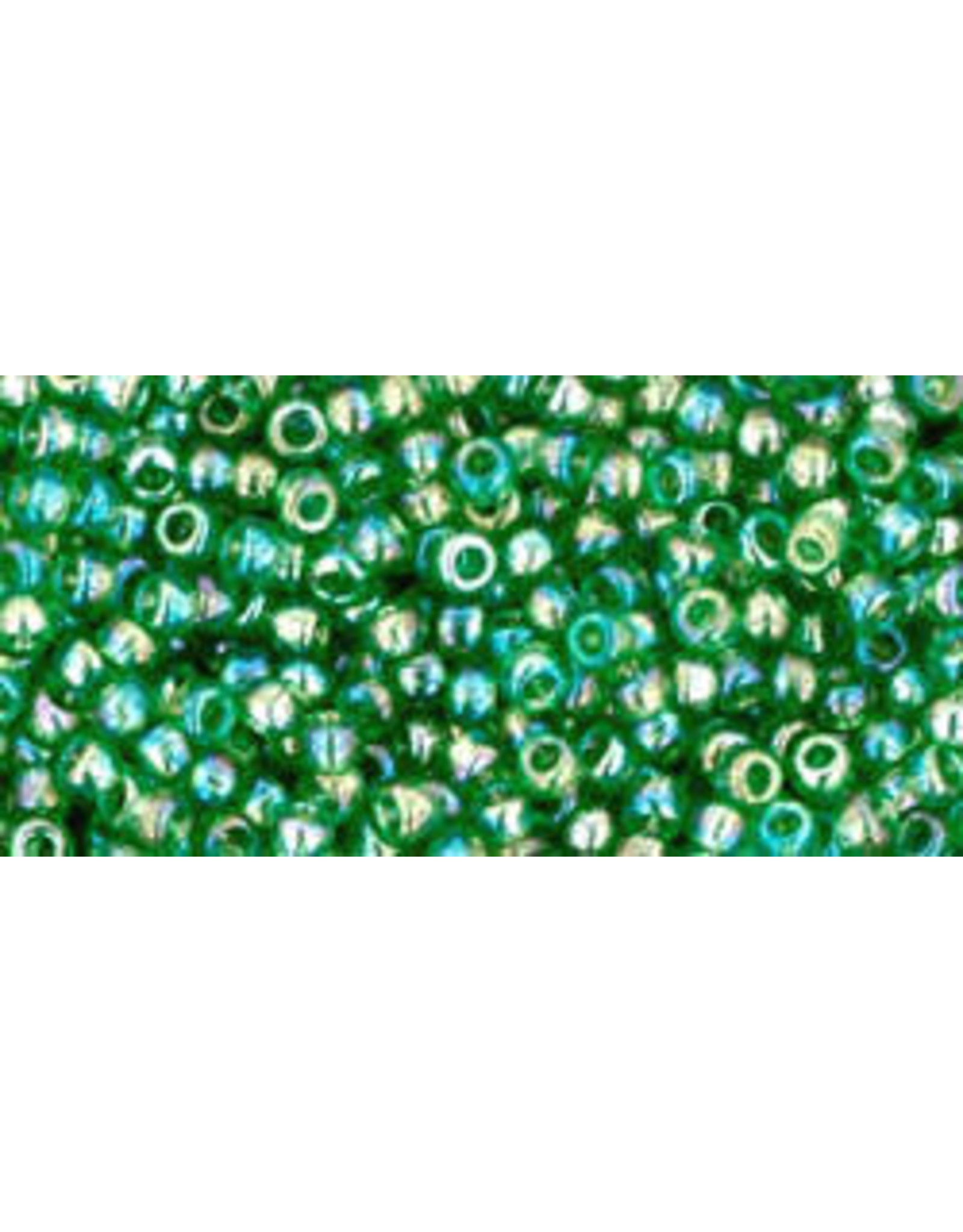 Toho 167bB 11  Round 40g Transparent Grass Green AB