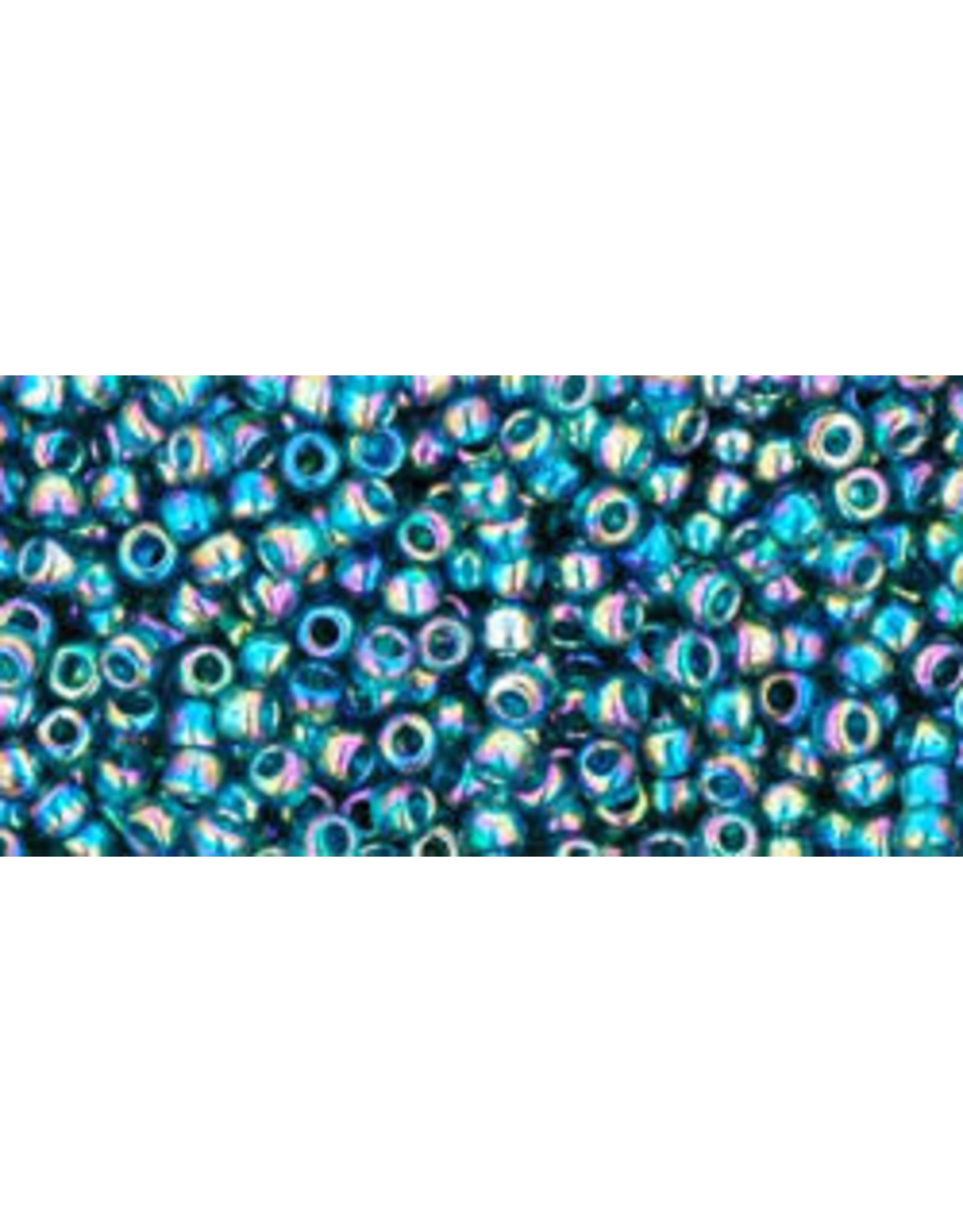 Toho 167bdB 11  Round 40g Transparent Teal Green AB