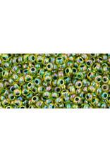 Toho 1829 11  Round 6g Transparent Yellow AB Green c/l