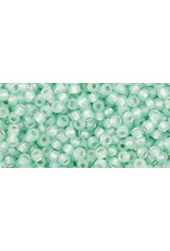 Toho 2118 11  Round 6g Light Peridot Green Milky  s/l