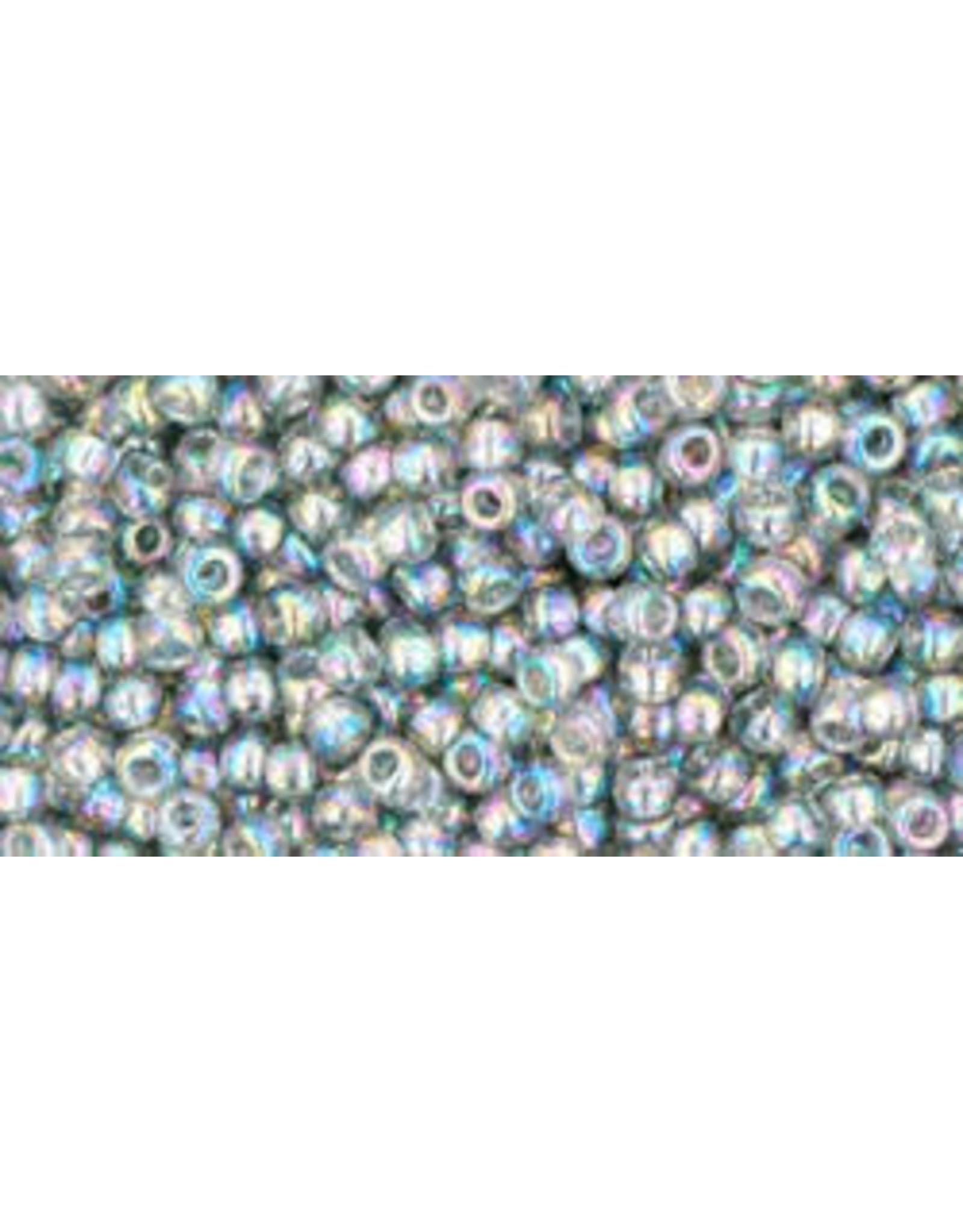 Toho 176B 11  Round 40g Transparent Black Diamond Grey AB