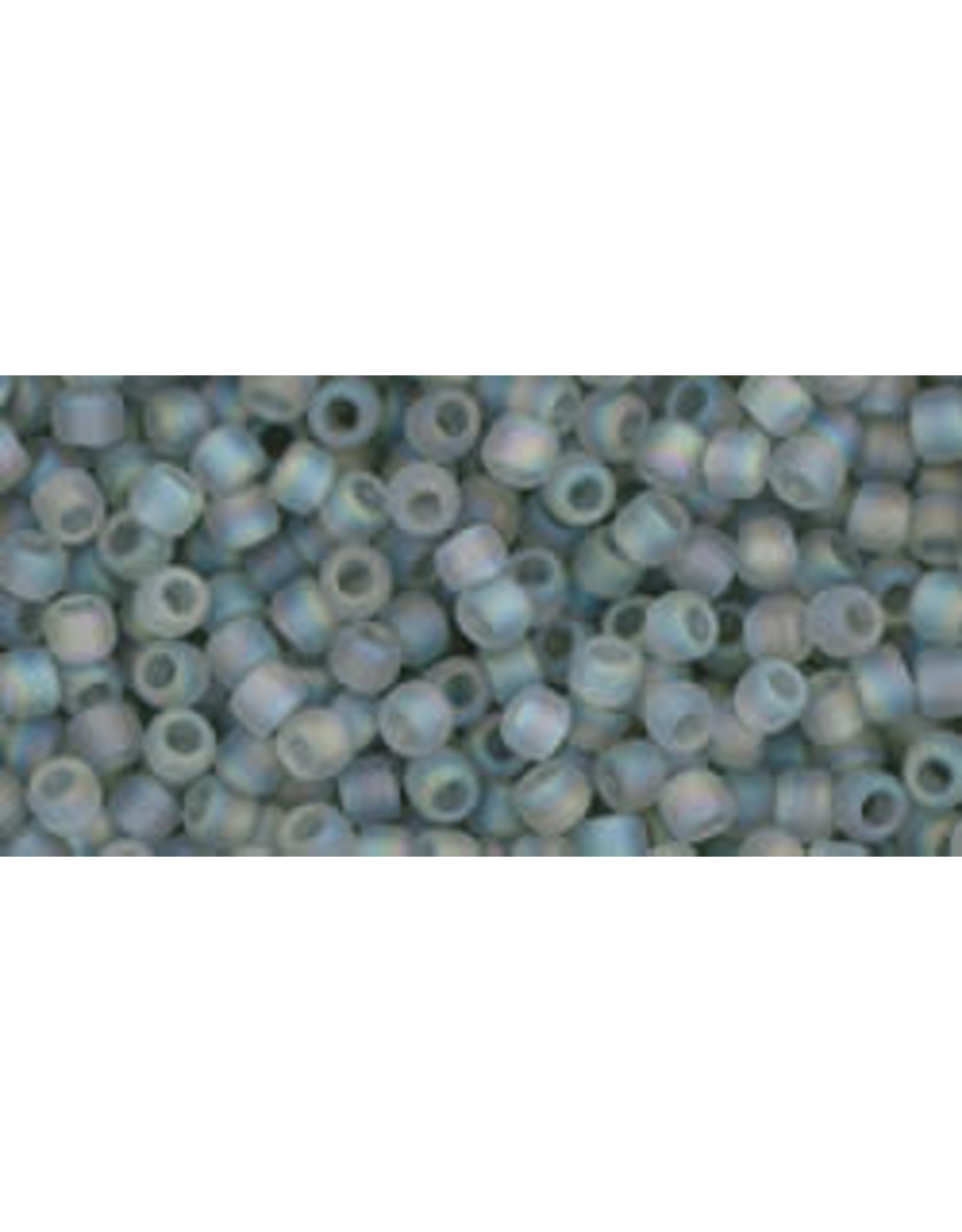 Toho 176afB 11  Round 40g Transparent Black Diamond Grey AB Matte
