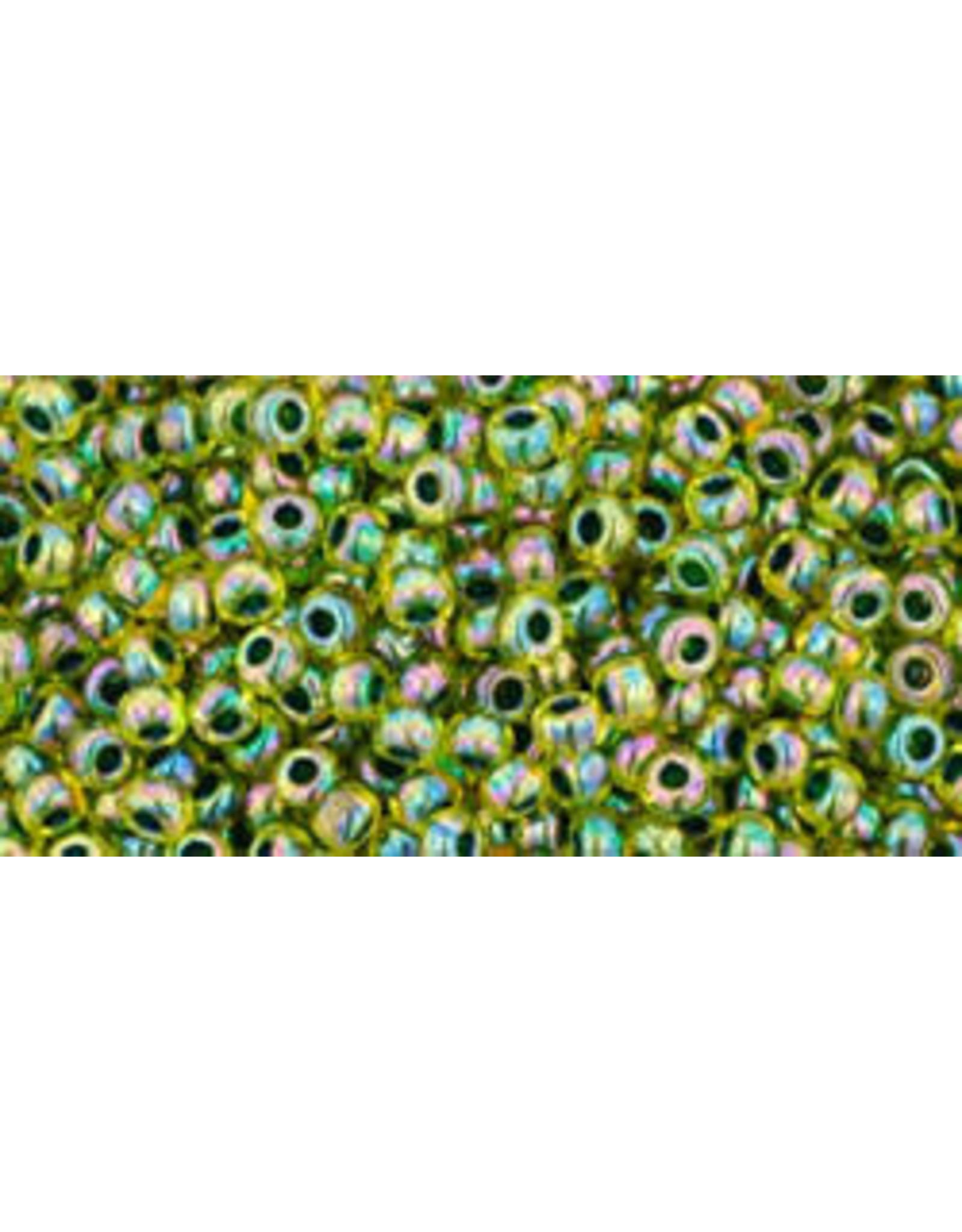 Toho 1829B 11  Round 40g Transparent Jonquil Yellow Green c/l