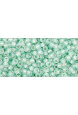 Toho 2118B 11  Round 40g Light Peridot Green Milky s/l