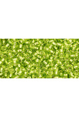 Toho 24 11  Round 6g Lime Green s/l