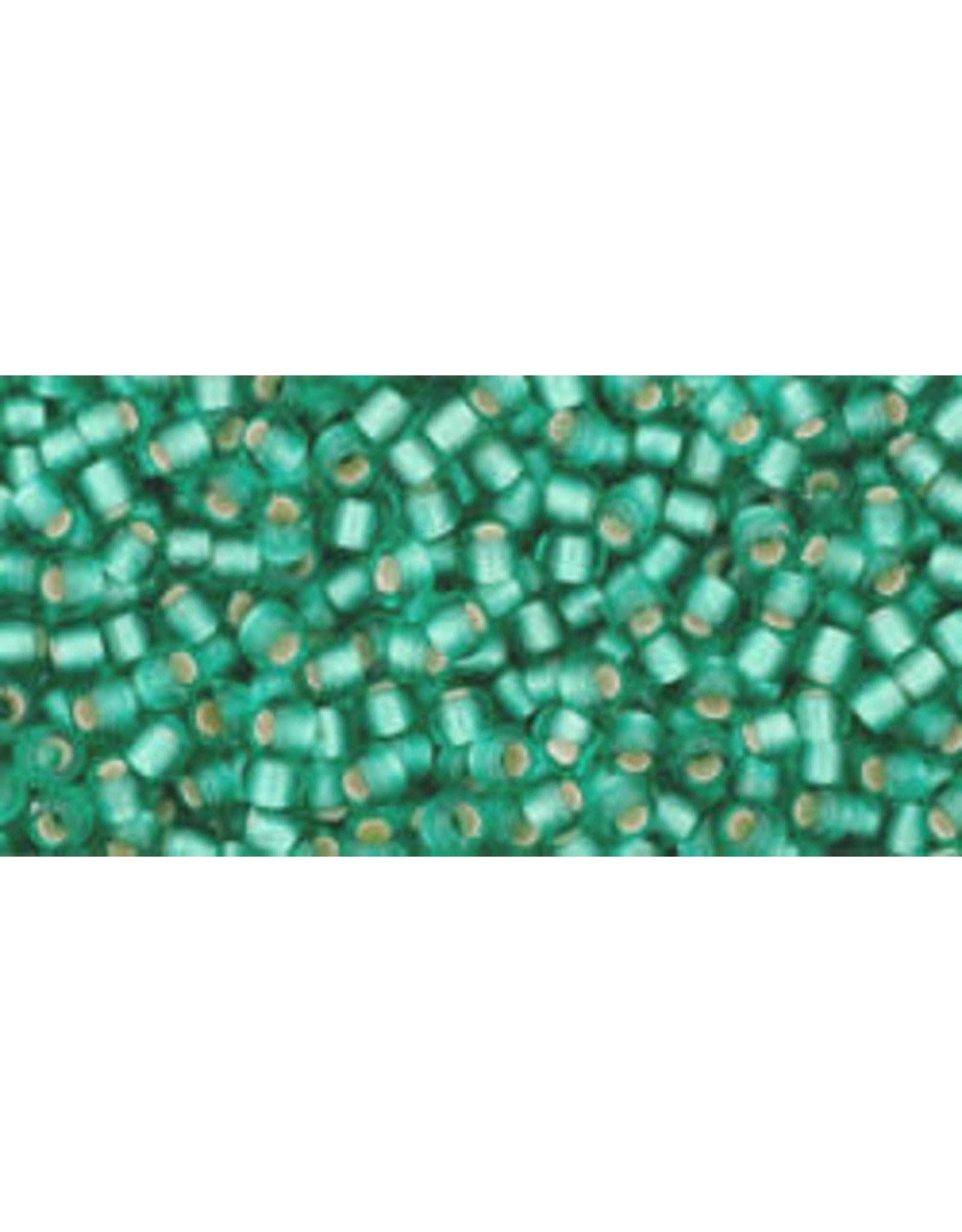 Toho 24bf 11  Round 6g Dark Peridot Green s/l Matte