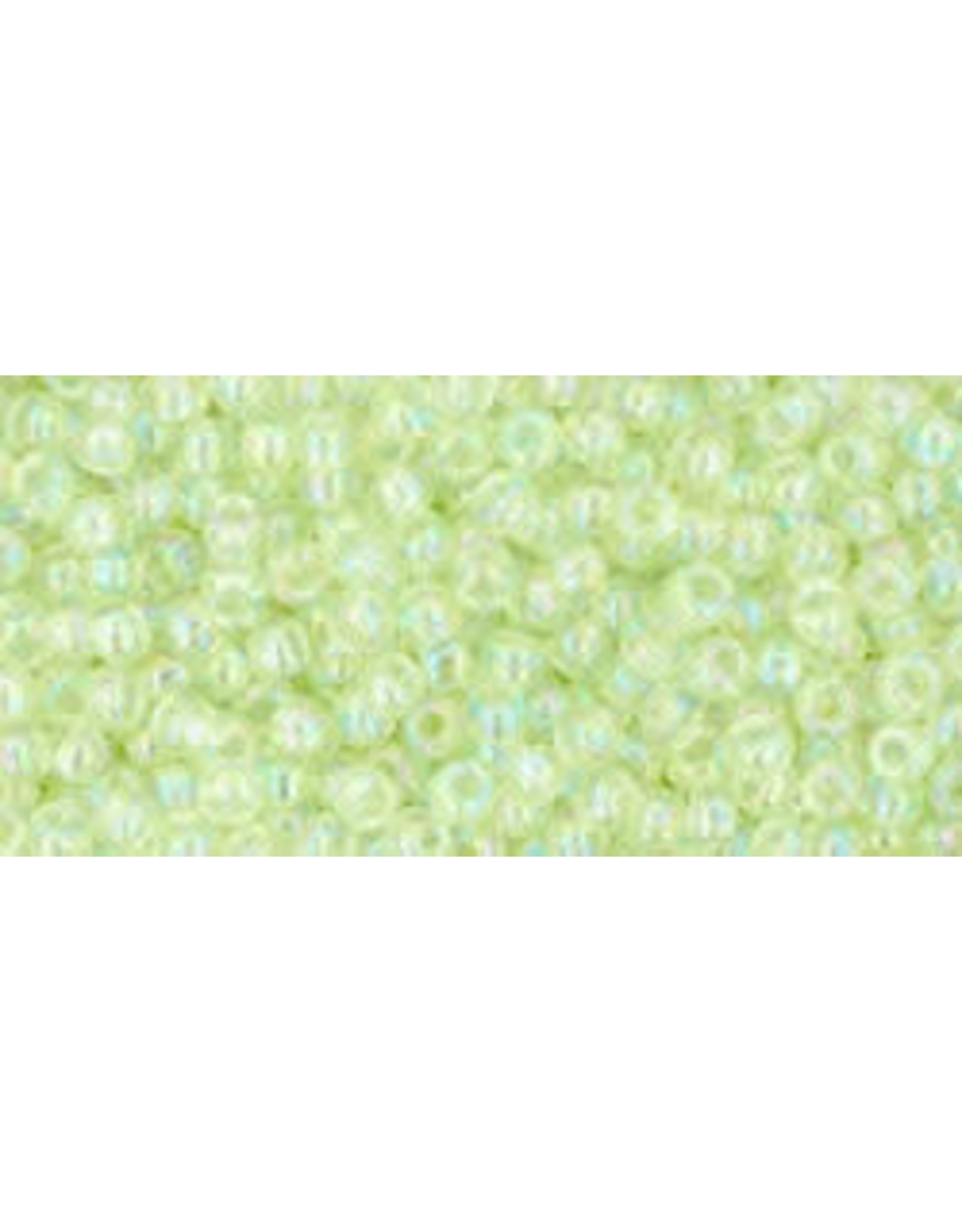 Toho 173 11  Round 6g Tansparentr Light Green AB