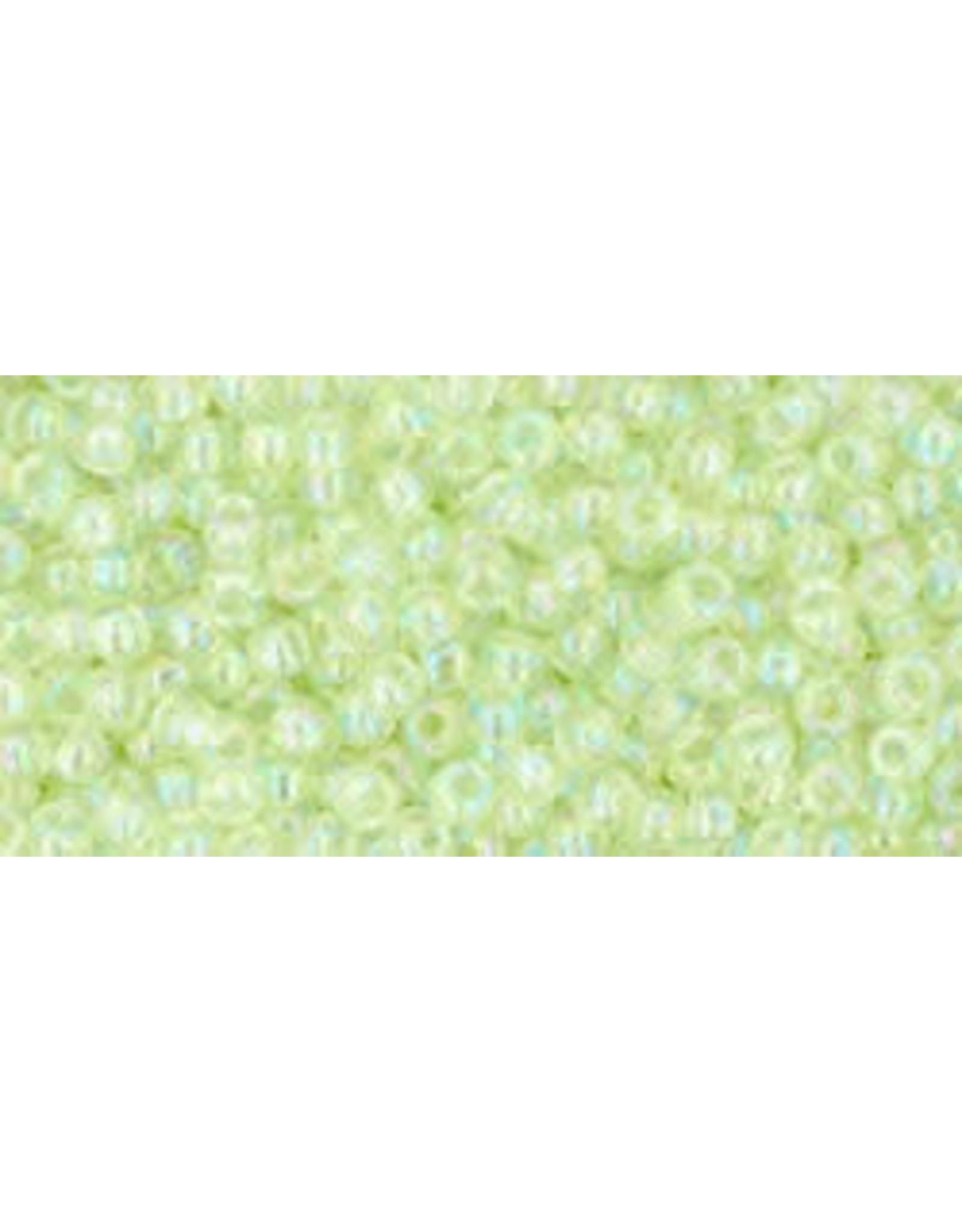 Toho 173B 11  Round 40g Transparent  Light Green AB