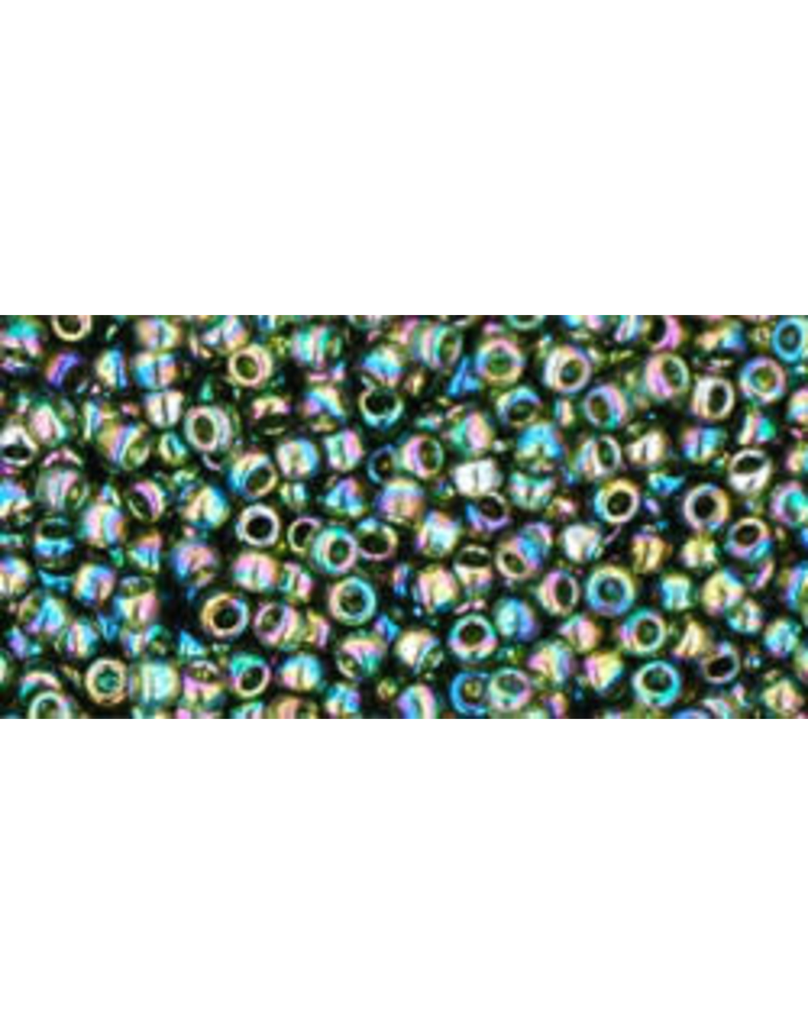 Toho 180B 11  Round 40g Transparent Olive Green AB