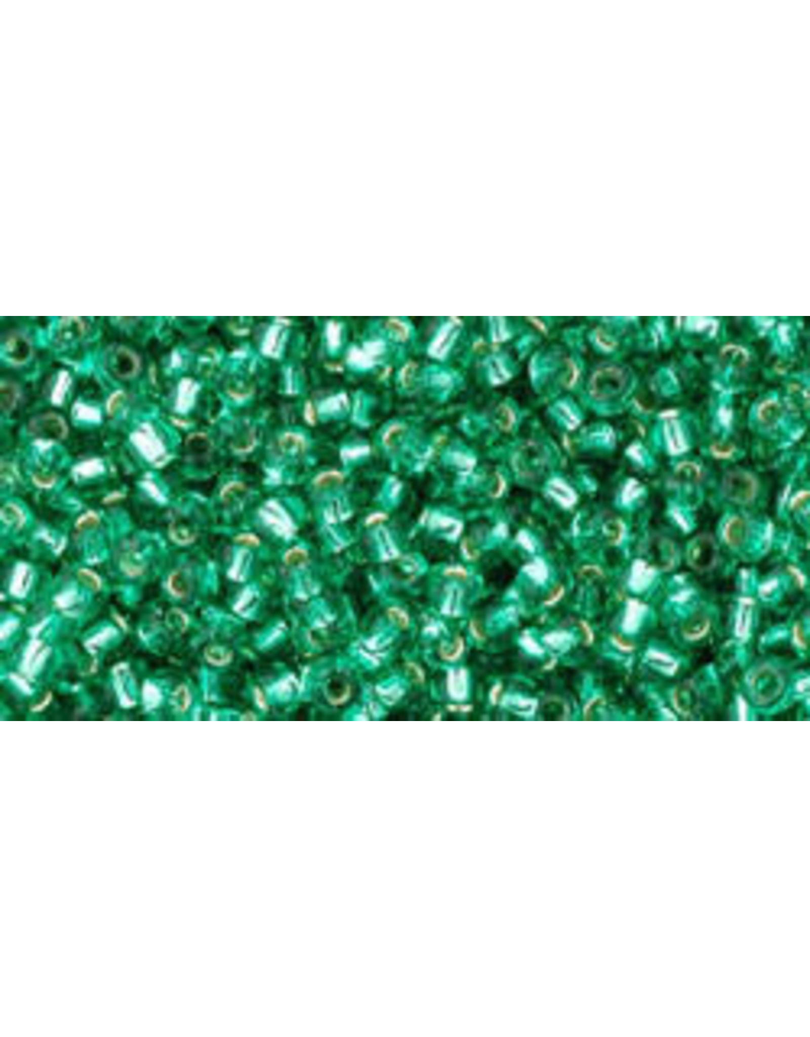 Toho 24bB 11  Round 40g Dark Peridot Green s/l