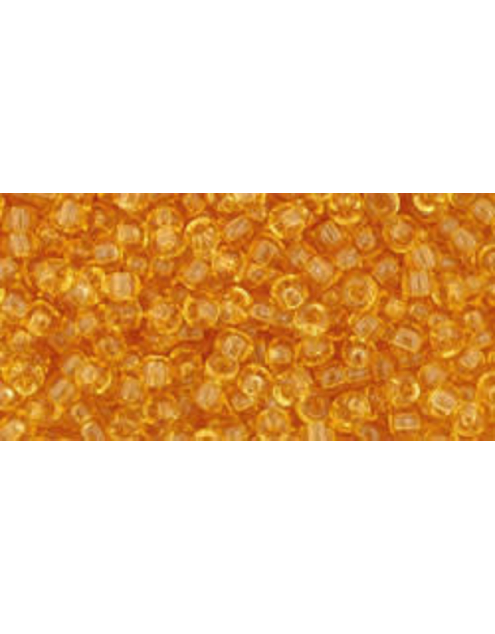 Toho 2b 11  Round 6g Transparent Medium Topaz Brown
