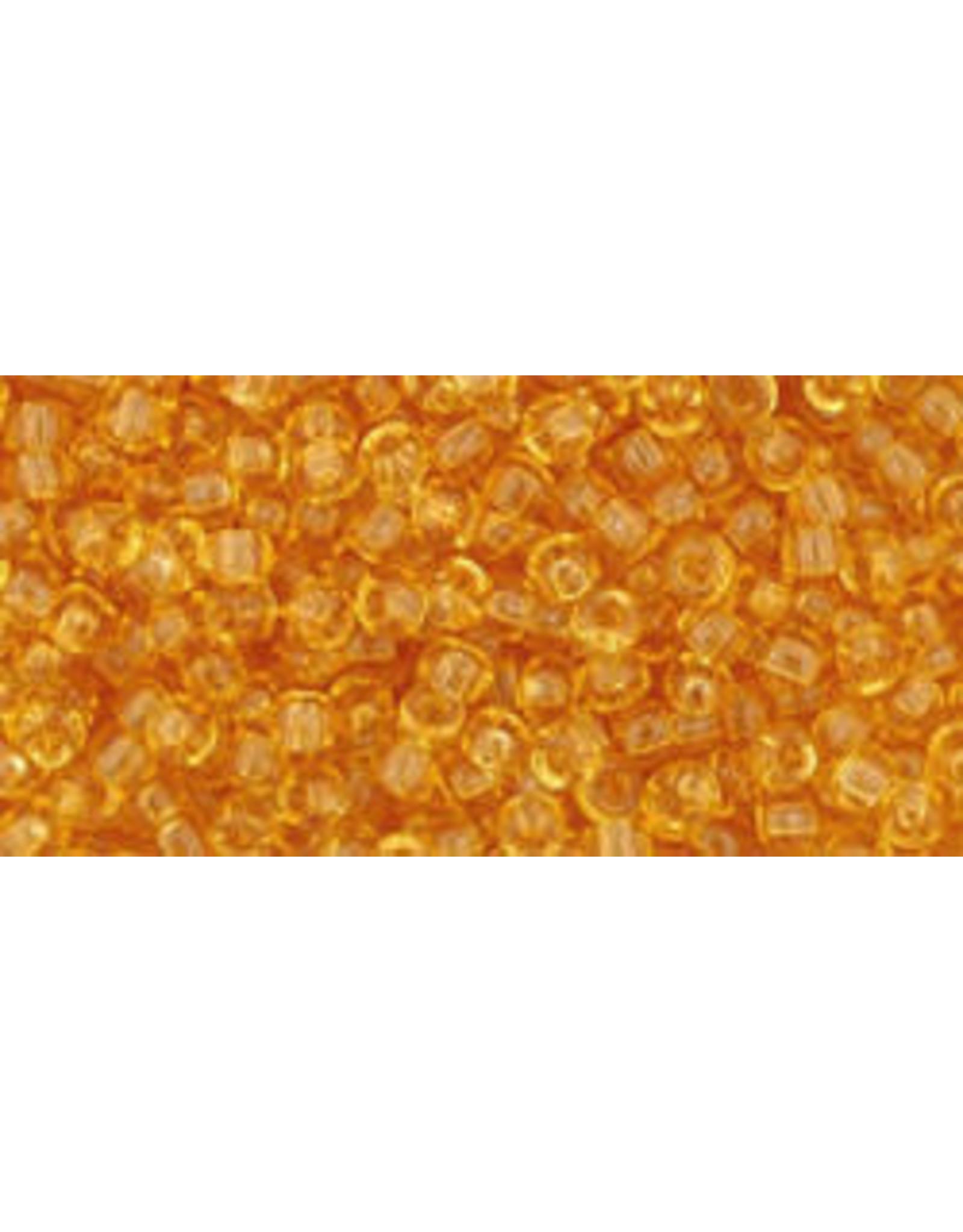 Toho 2b 11 Toho Round 6g Transparent Medium Topaz Brown