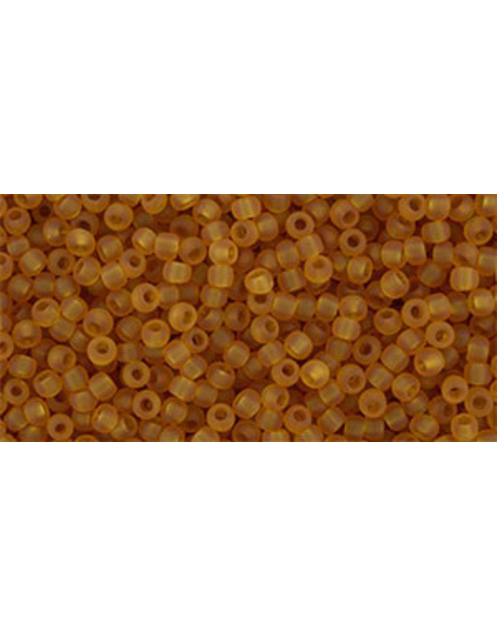 Toho 2cfB 11  Round 40g Transparent Dark Topaz Brown Matte