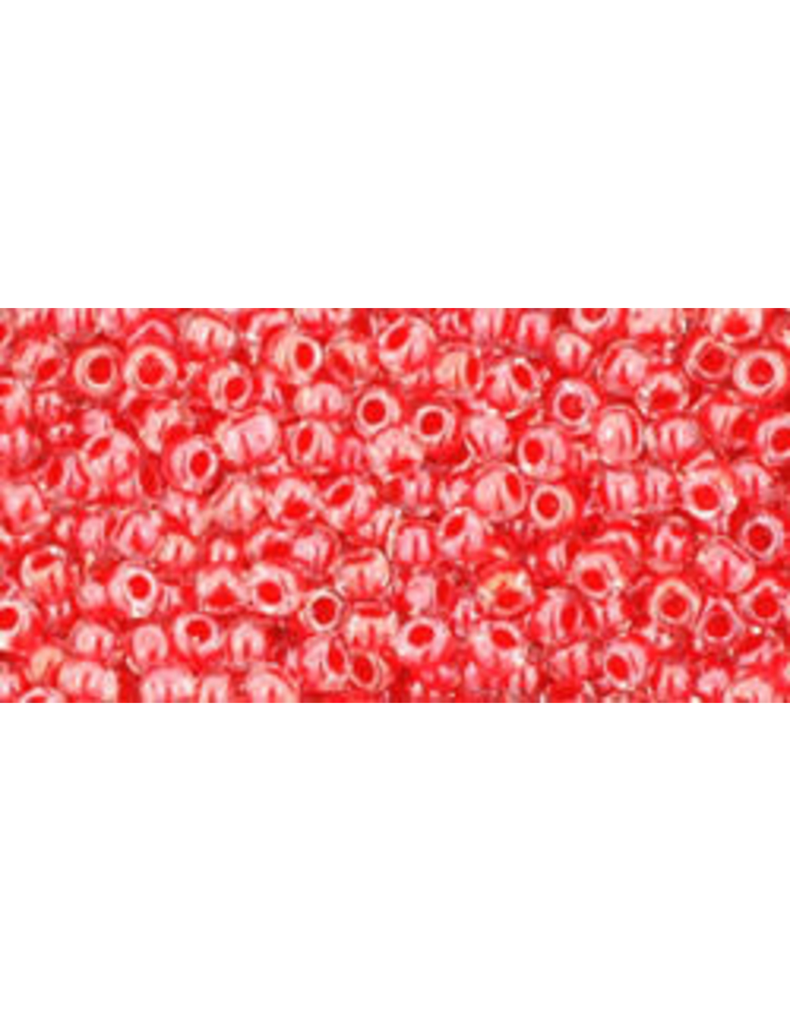 Toho 341B 11 Toho Round 40g  Clear red c/l