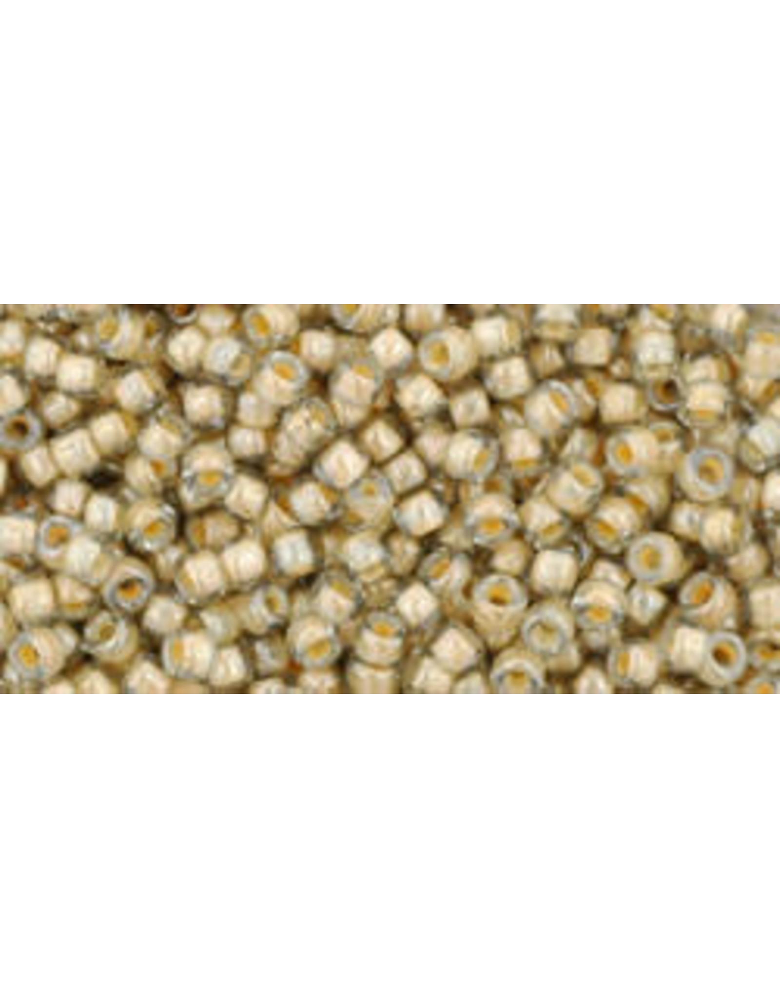 Toho 369 11  Round 6g Black Diamond Grey Cream c/l