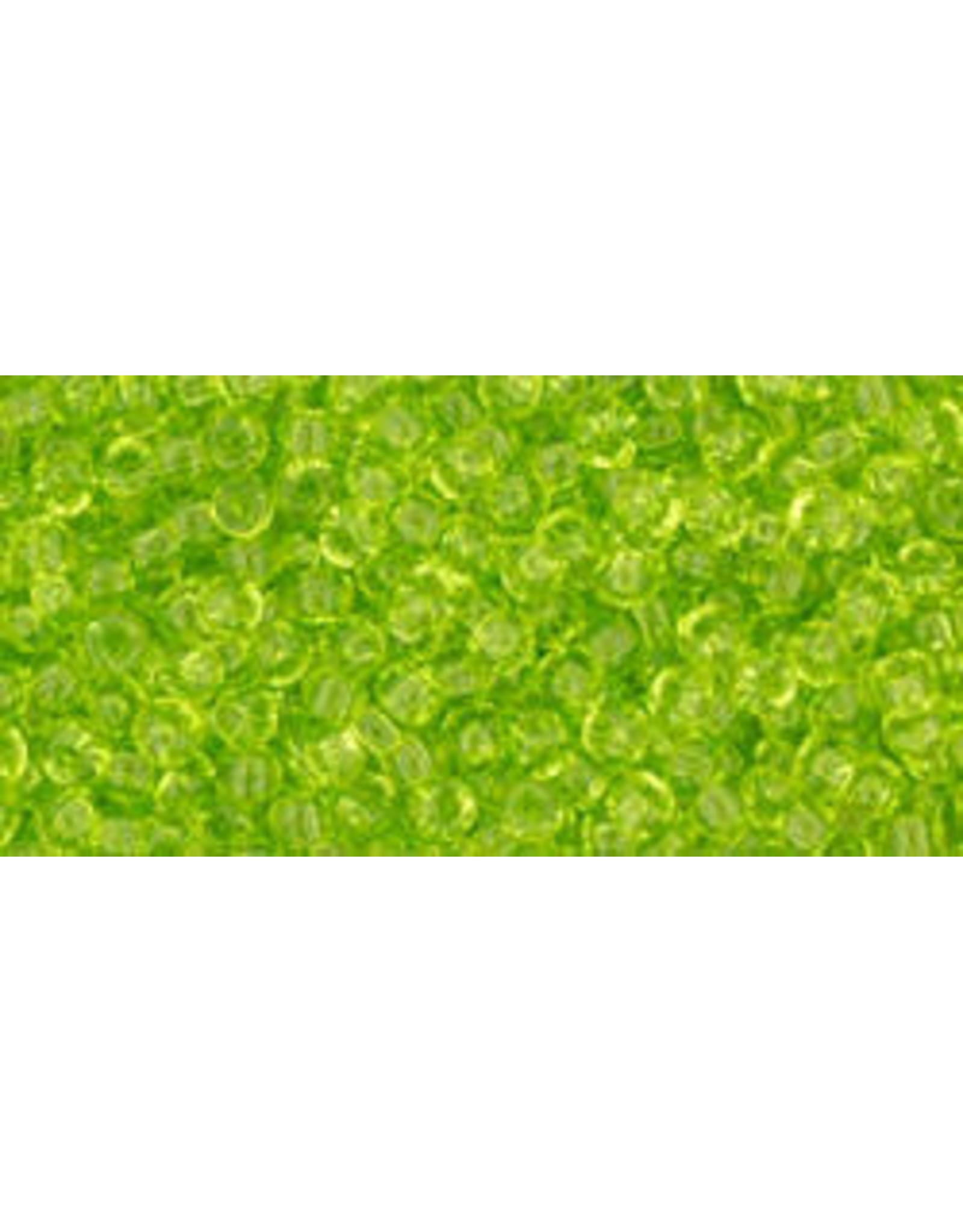 Toho 4 11  Round 6g Transparent Lime Green
