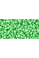 Toho 407 11  Round 6g Opaque Mint Green AB