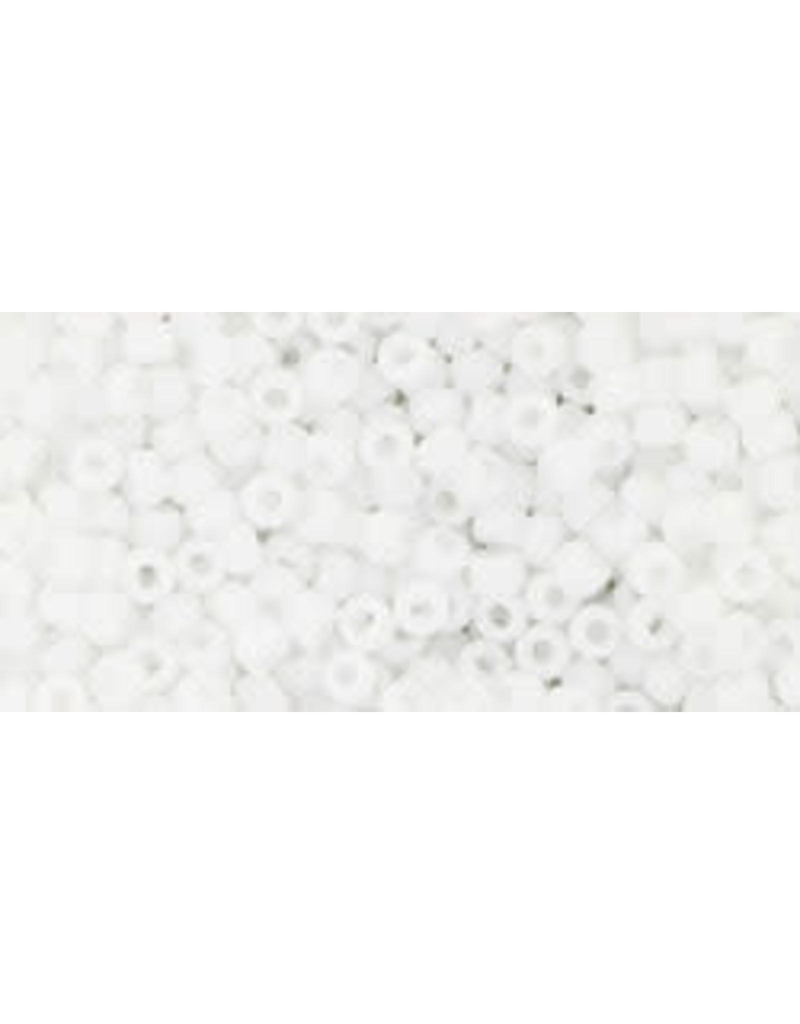 Toho 41f 11  Round 6g Opaque White Matte