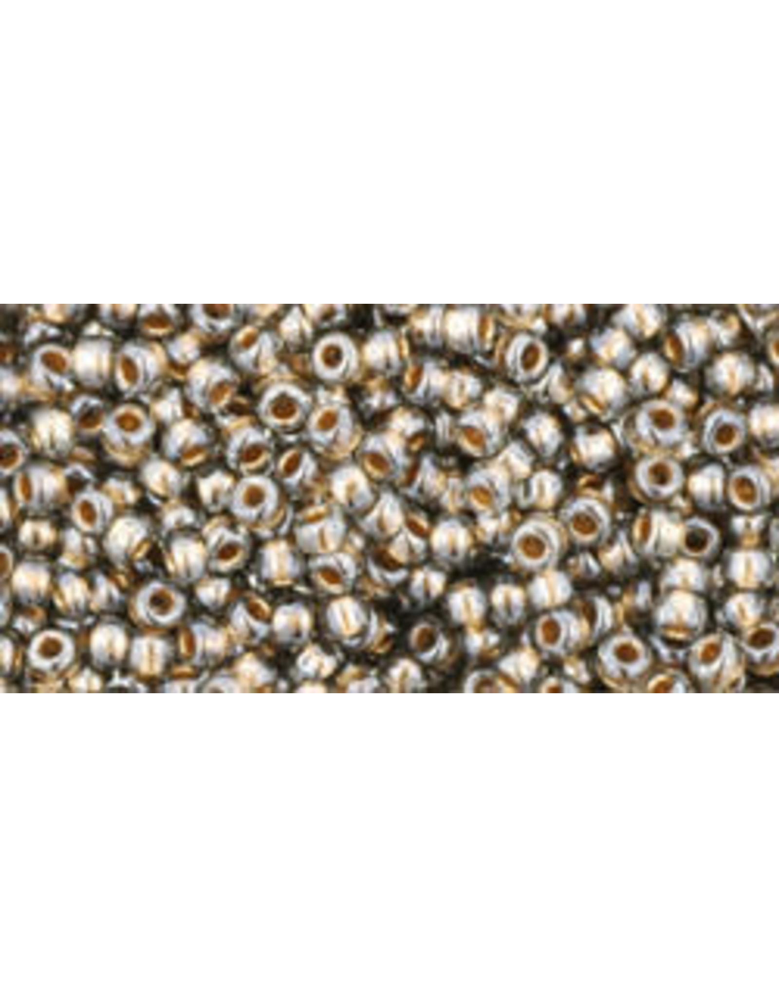 Toho 993 11  Round 6g Black Diamond Grey Gold c/l