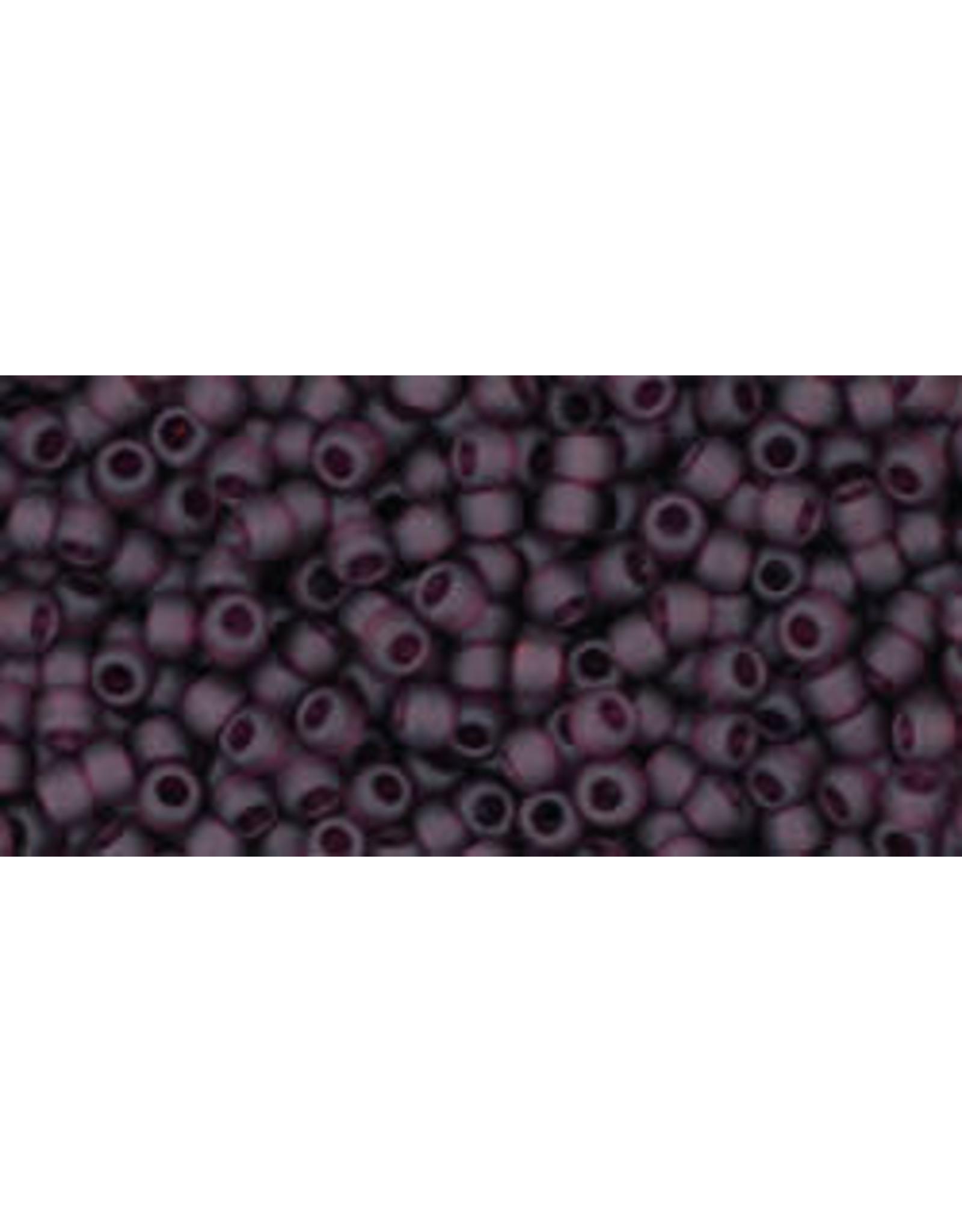 Toho 6cfB 11  Round 40g Transparent Dark Amethyst Purple Matte