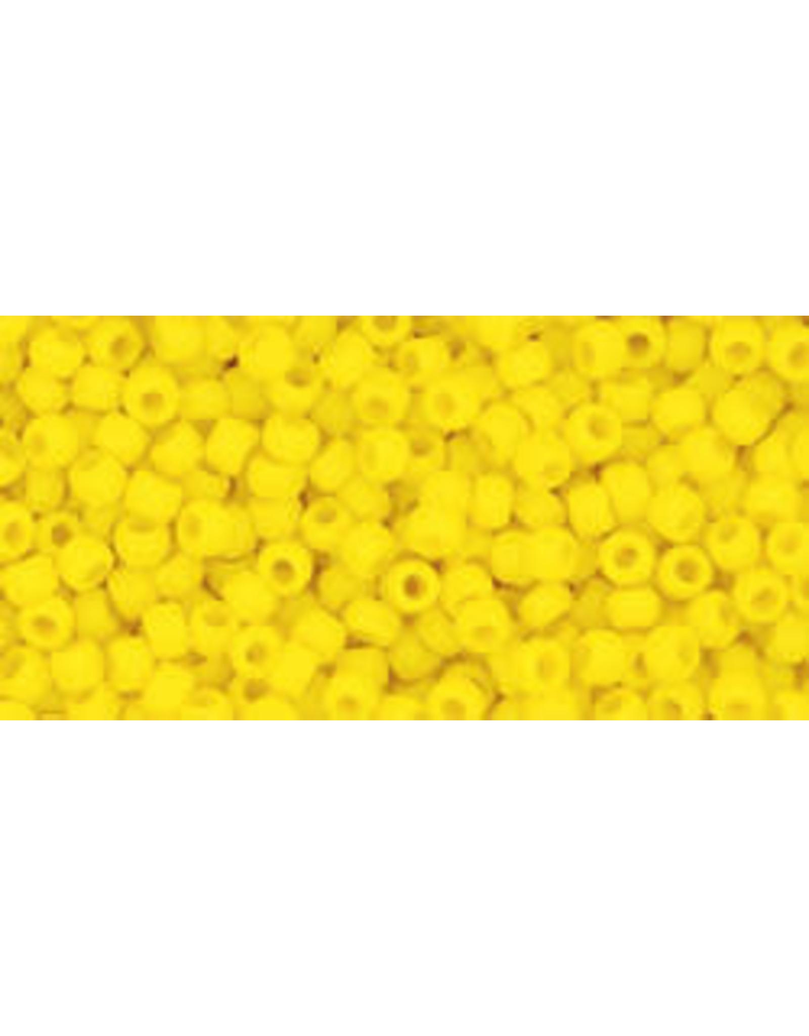 Toho 42bf 11  Round 6g Opaque  Dark Yellow Matte