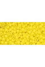 Toho 42f 11  Round 6g Opaque Dandelion Yellow Matte